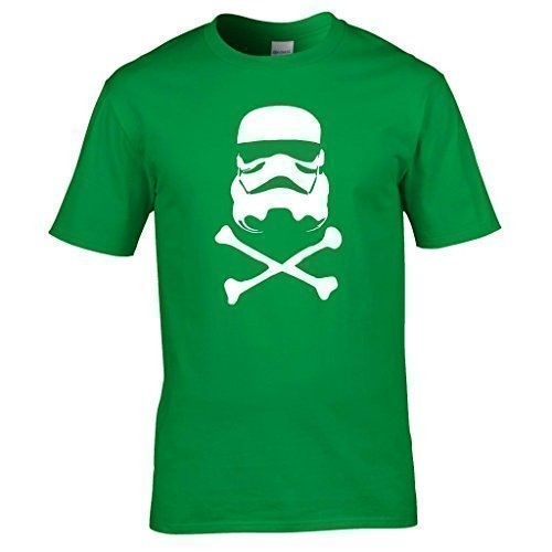 Naughtees kleidung - Sturmtruppler totenkopf T-shirt Kellygrün