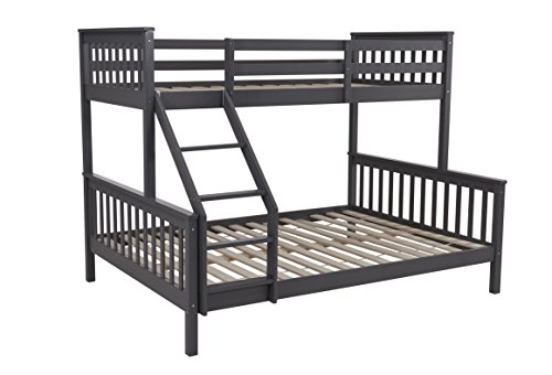 Home Detail Wooden Children's Triple Sleeper Bunk Bed Frame Finishes (Grey)