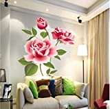 Rose Flower Vinyl Home decor Wall Art Decal Sticker by homking