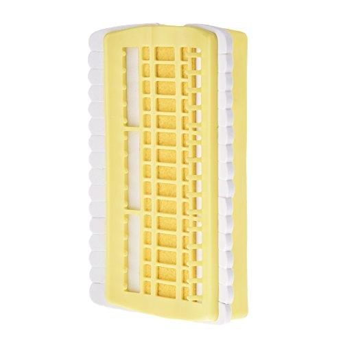 PROKTH Positionen, mit Stickerei Zahnseide mit Nähzubehör Nadeln Stecknadeln mit Halter-Werkzeug, Floss Organizer Kreuzstich-Set Stickerei Gewinde, für Werkzeug, Storager, plastik, gelb, 30 positions (Gelbes Floss)