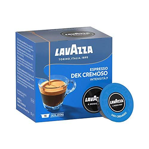 Lavazza A Modo Mio Espresso Dek Cremoso, 9x 16 Caps (9x 120g)