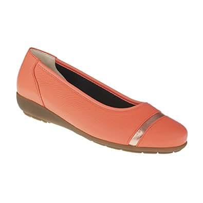 Natural Feet Women's Ballerina Santana Ballet Orange Size