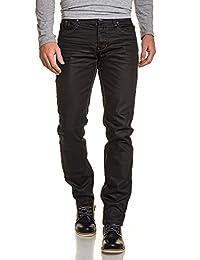 BLZ jeans - Jean noir homme huilé droit