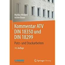 Kommentar ATV DIN 18 350 und DIN 18 299: Putz- und Stuckarbeiten