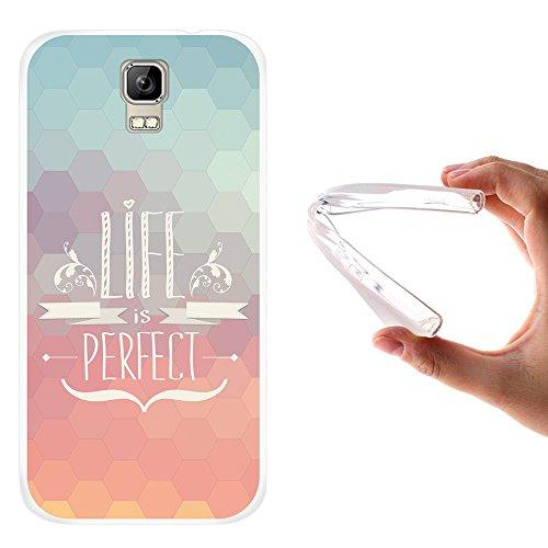 WoowCase Umi Rome Hülle, Handyhülle Silikon für [ Umi Rome ] Satz - Life is Perfect Handytasche Handy Cover Case Schutzhülle Flexible TPU - Transparent