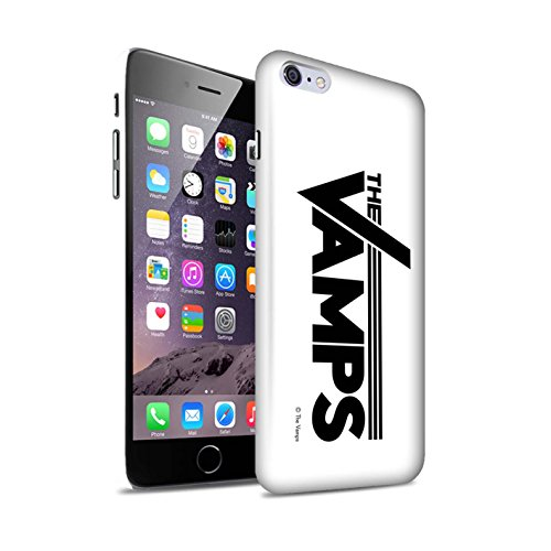 Offiziell The Vamps Hülle / Matte Snap-On Case für Apple iPhone 6S+/Plus / Pack 6pcs Muster / The Vamps Graffiti Band Logo Kollektion Weiß/Schwarz