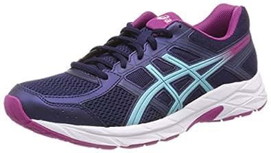 Asics Gel-Contend 4, Chaussures de Running Compétition Femme, Bleu (Diva Blue/Silver/Orchid), 39.5 EU