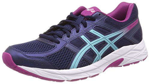 Asics Gel-Contend 4, Scarpe Running Donna, Blu (Peacoat/Porcelain Blue/Fuchsia Red 5814), 37.5 EU