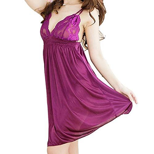 Dreameryoly Frauen Satin Pyjamas-Sexy Frauen Süße Dessous Komfortable Weibliche Nacht Attraktion Sex Nightwear Für Frauen