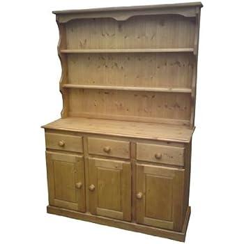 Wye Valley Pine Glazed Welsh Dresser - Finish: Wax - Stain ...