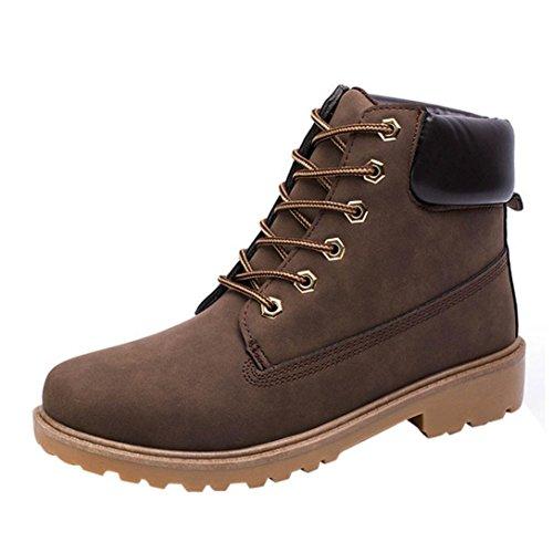 Tefamore Stivali Da Neve Uomo, Allineato Pelliccia Autunno Inverno Caloroso Caviglia Stivali Scarpe con etichetta lato