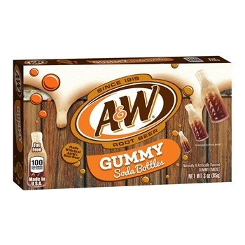 A&W Root Beer Gummy Soda Bottles (85g)