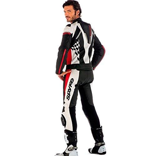 Tuta-in-pelle-moto-per-gli-uomini-SPYKE-4RACE-DIV-2pc-tute-biker