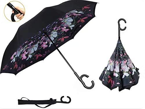 Manfâ paraguas invertido a prueba de viento