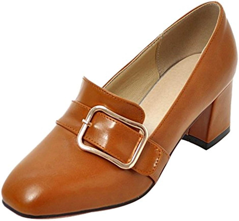 JOJONUNU Mujer Tacon Medio Zapatos  Zapatos de moda en línea Obtenga el mejor descuento de venta caliente-Descuento más grande