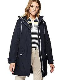 Debenhams Maine New England Womens Navy Hooded Shower Resistant Longline Jacket