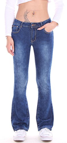 Style-Station24 -  Jeans  - Jeans boot cut - Donna Blau