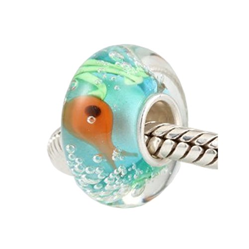 Andante-Stones 925 Sterling Silber Murano Bead Charm