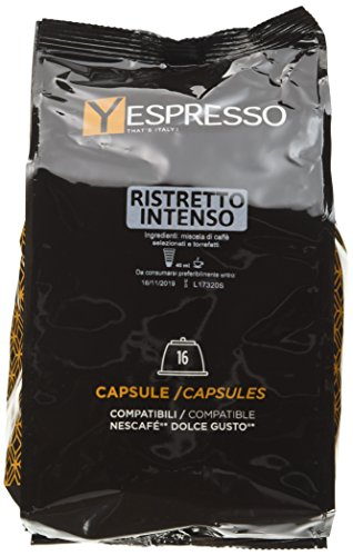 Yespresso capsule dolce gusto compatibili intenso ristretto - confezione da 64 pezzi