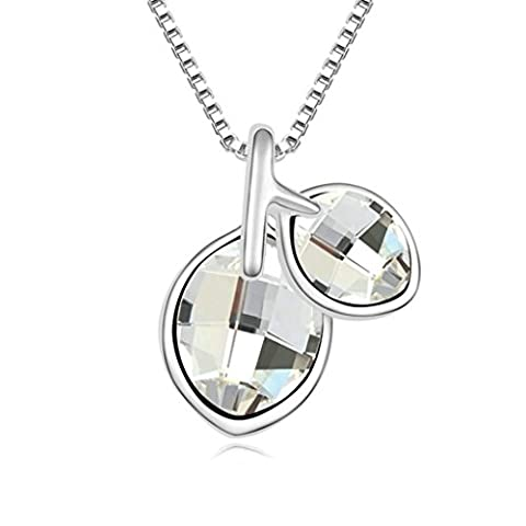 Daesar Gold Plated Women's Leaf Cubic Zirconia Pendant Necklace for Women