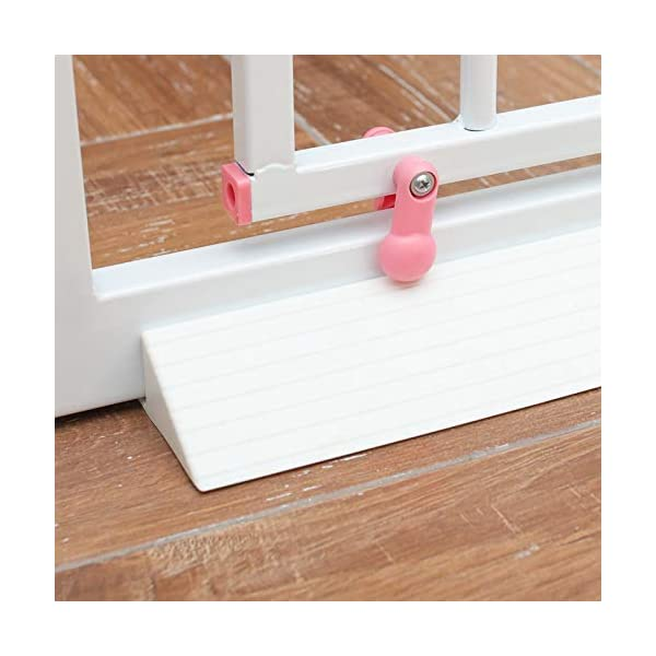 GOLDA Baby Gate Stumble Protection Ramp Accessories Non-Slip and Non-Trip Reinforcement Base for Toddlers or Pet Indoor Gates and Fences Safety Gate Tool Angled Ramp Bar(White) GOLDA QUICK AND EASY TO USE - Straight forward installation, in less than 2 minutes your child is safer and confident in their steps PRACTICAL SAFETY BASE - Light to carry, easy to clean and store. with Premium Size : Fits on majority of safety gates and extensions available AVAILABLE IN TWO COLOURS - Adapt to any room or furniture with black or white option. 2