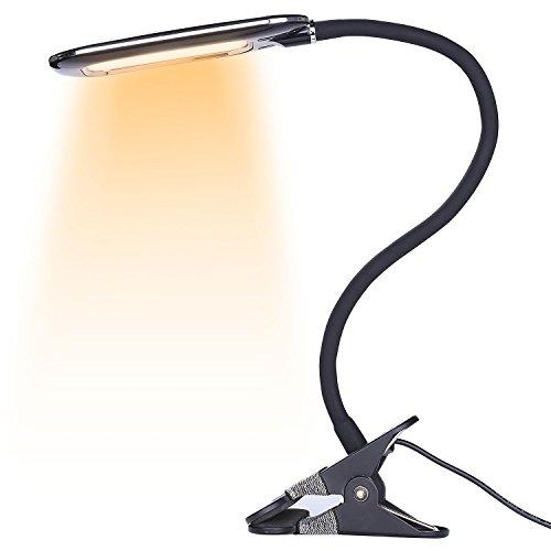 BestFire 24 LEDs Leselampe Buchlampe   Wiederaufladbare LED Nachtlicht   360 Grad Schreibtisch Lampe Tragbare Klemmleuchte   Dimmar 2 Modi USB-Kabe( warmweiß,weiß Kombination ) (Besten Etagenbett)