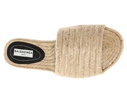Ciabatte Balenciaga da donna in paglia naturale - Codice modello: 454420 W05F1 9710 Beige