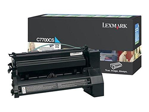 Preisvergleich Produktbild Lexmark C7700CS C770, C772 Tonerkartusche 6.000 Seiten Rückgabe, cyan