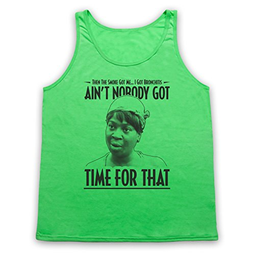 Sweet Brown Ain't Nobody Got Time For That Tank-Top Weste Neon Grun