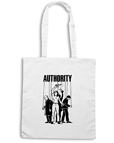 T-Shirtshock - Borsa Shopping FUN0602 anti authority womens tshirt Bianco