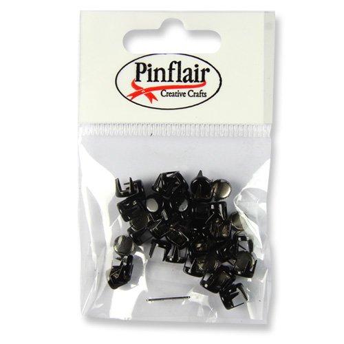 Pinflair Metall-Nieten, ca. 50Stück -schwarz