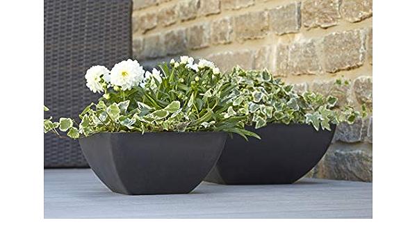 /Ø 40cm Anthracite Klocke Pot de Fleurs Rond en Plastique et Plastique pour Plantes Gro/ß
