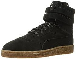 PUMA Mens Sky Ii Hi Winterised Basketball Shoe, Puma Black, 9 M US