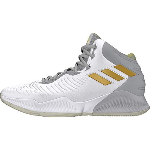 adidas Herren Mad Bounce 2018 Basketballschuhe Weiß Ftwwht/Gold Mt/Gretwo, 42 EU