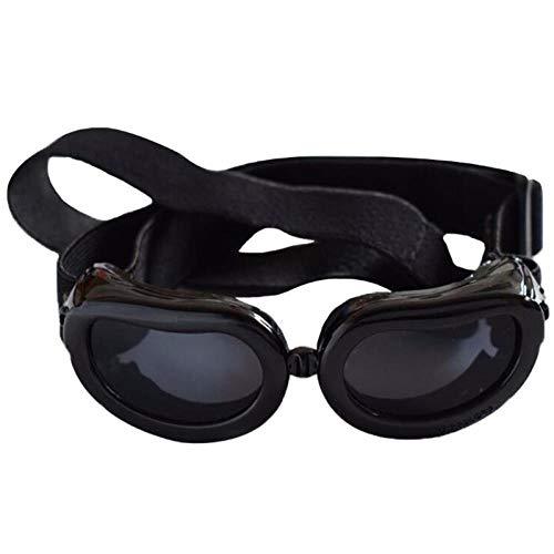 HUYDLD Heimtierbedarf Hund Sonnenbrille Faltbare Haustier Hund Brille Windschutzbrille Für Kleine Und Mittlere Haustier Accesseries Heimtierbedarf Schwarz