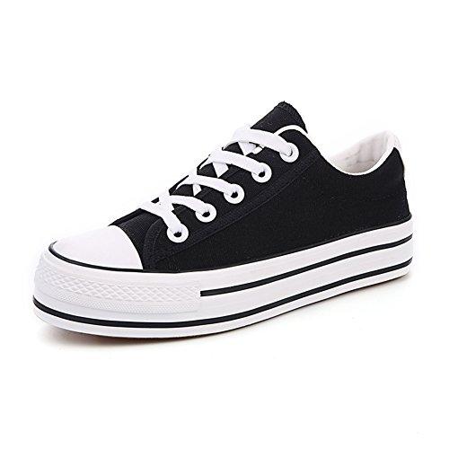 Estate bassa scarpe di tela/Scarpe con la suola spessa piattaforma studente A