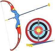 Amitasha Kids Archery Bow and Arrow Toy Set with Target Outdoor Garden Fun Game