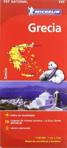 Mapa National Grecia (Mapas National Michelin) por Vv.Aa