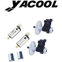 Yacool® UDI U818s Fotografía Profesional Rc Quadcopter Drone piezas de repuesto para engranajes 2pcs de motor, motores, 2pcs 2pcs motor de tubería radiante