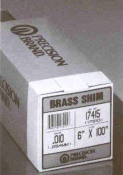 Brass Shim Stock Rolls - 17s3 .003 brass shimstock 6x100 by Precision Brand -