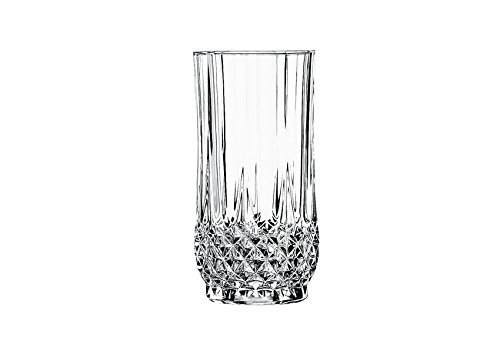 Cristal d Arques Longchamp boisson longue verre 360ml, sans repère de remplissage, 6 Verres