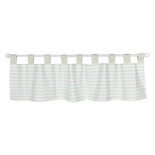 Trend Lab Sea Foam Fenster Volant, Salbei - Vorhang Kleinkind-mädchen-dusche