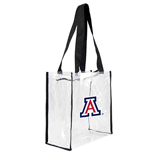 ncaa-arizona-wildcats-square-stadium-tote-115-x-55-x-115-inch-clear-by-littlearth