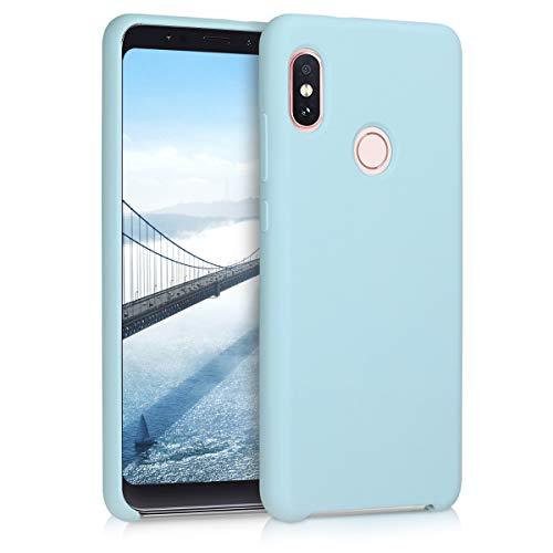 kwmobile Funda para Xiaomi Redmi Note 5 (Global Version) / Note 5 Pro - Carcasa de TPU para teléfono móvil - Cover Trasero en Azul Claro Mate