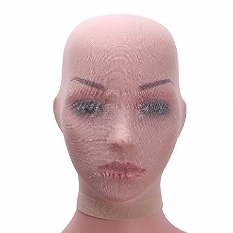 YiZYiF Unisexe Masque Mesh Pour Femmes Homme Noir Mesh Bondage Cosplay Costume de rôle Chair Taille Unique