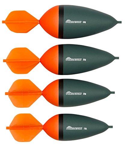 Fox Rage Predator HD Dart Slider Raubfischpose, Segelpose, Hechtpose, Pose in verschiedenen Größen, leucht orange, Gewicht:35g