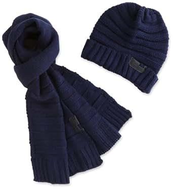 DIESEL - Bonnets - Homme - Coffret bonnet et écharpe marine Mas - Taille Unique