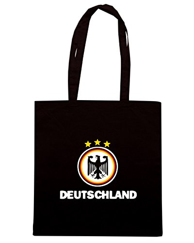 T-Shirtshock - Borsa Shopping WC0056 GERMANIA GERMANY DEUTSCHLAND Nero