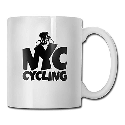 DHIHAS Strong Stability Durable Kaffeebecher NYC Cycling Tea Cup Novelty Gift for Lovers (Nyc Kaffeebecher)