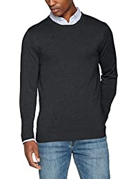 SELECTED FEMME Shdtower Cot/Silk Crew Neck Noos, Pull Homme